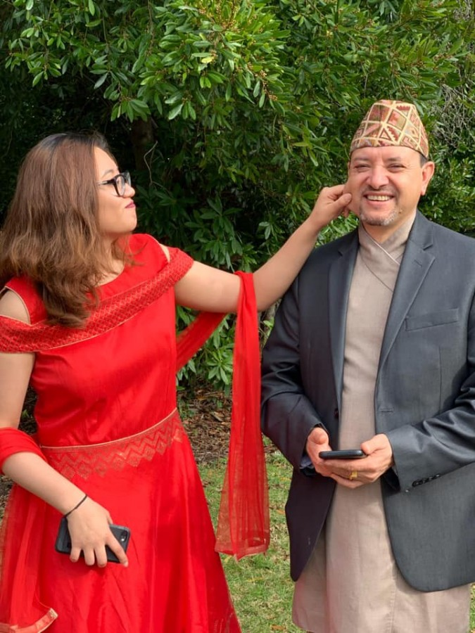 Harihar Dahal and Neha